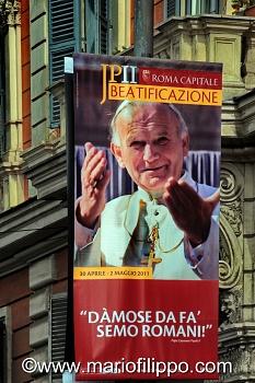 BEATIFICAZIONE PAPA GIOVANNI PAOLO II KAROL WOJTYLA  ROMA 5 MAGGIO 2011