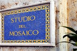 Citta' del Vaticano-Studio del mosaico in smalti tagliati della R.Fabbrica di San Pietro