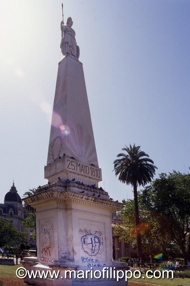 ARGENTINA BUOENOS AIRES 25 MAYO 1810 - MOMUMENTE RIVOLUZIONE PLAZA 25 MAYO 1810